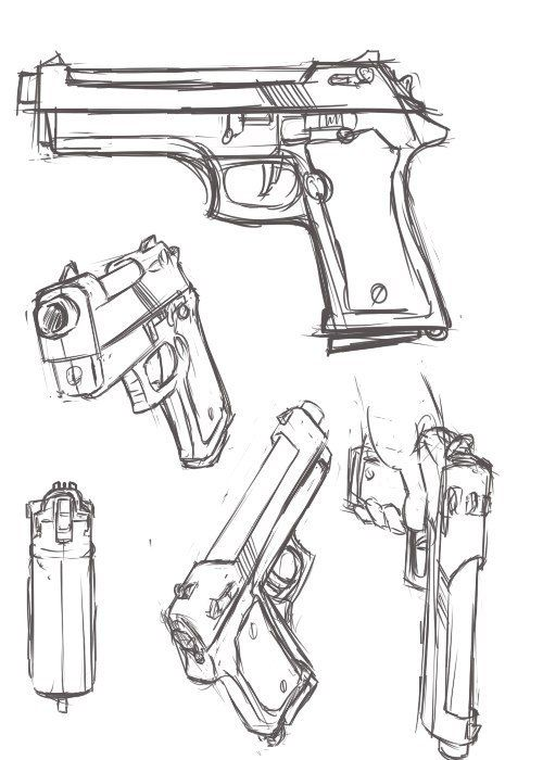 Drawn pistol anime Gun this! 332 Drawing draw