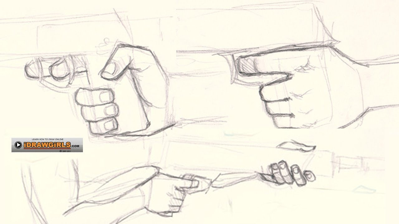 Drawn pistol anime Draw draw hand How to