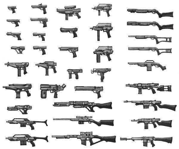 Drawn pistol anime Best Drawing pistols_guns_snipers_rifles_explosives_draw_how_learn_to_example Pinterest Guns: