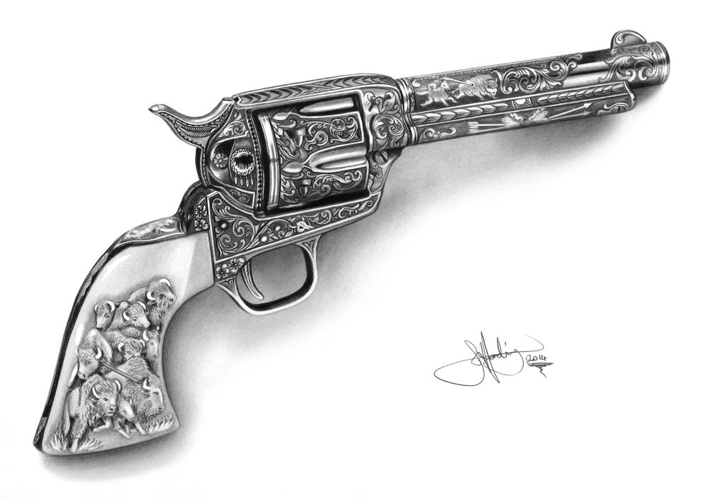 Drawn pistol army gun Whizziewhizzer Guns action revolver 75