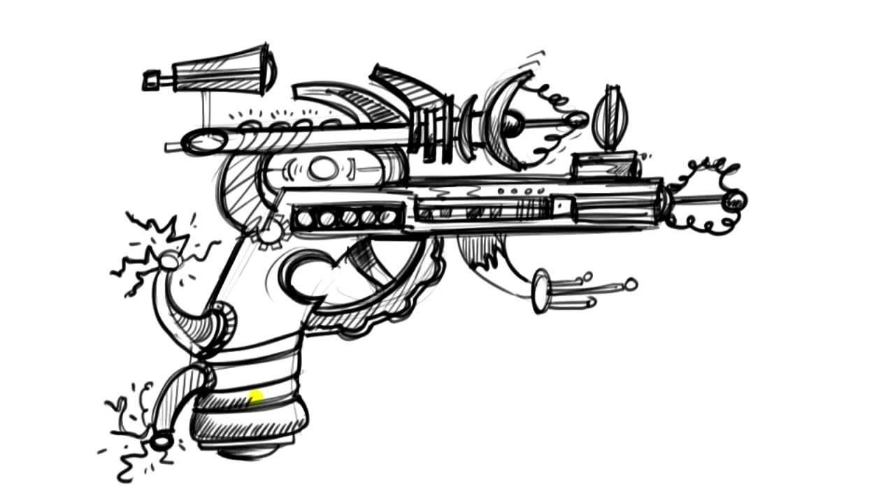 Drawn pistol awesome gun  Ray Gun Draw to