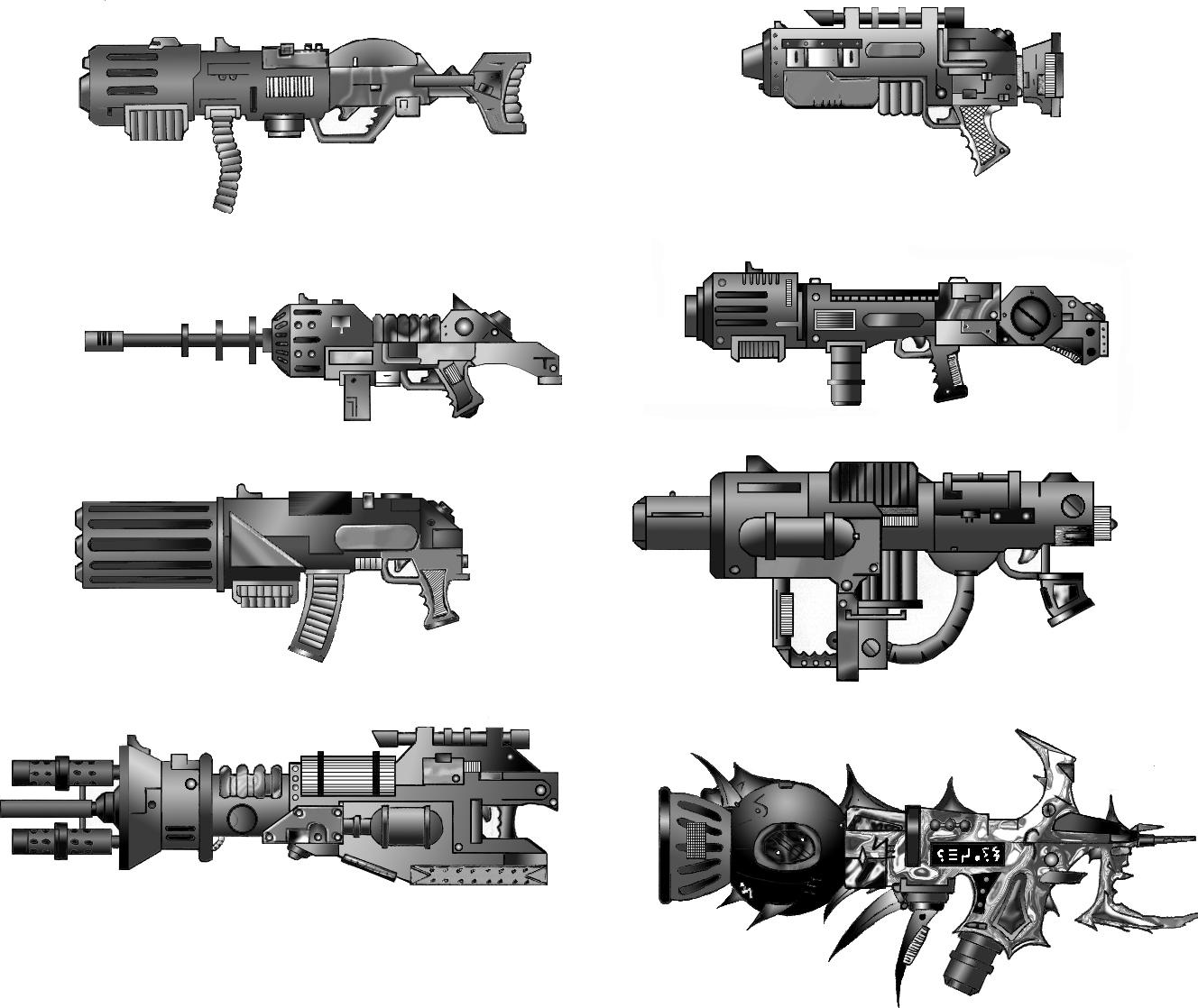 Drawn shotgun weapon Weapon Weapon by by juanosarg