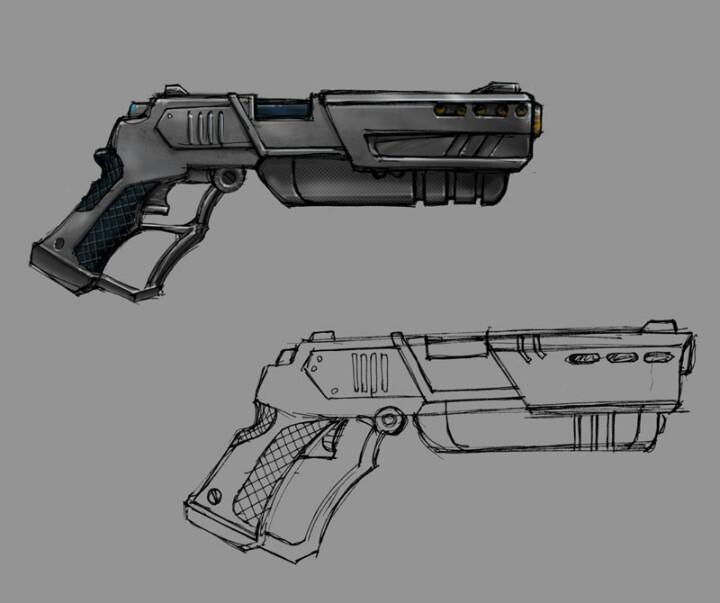 Drawn pistol awesome gun More shotgun Drawing Find Malin's