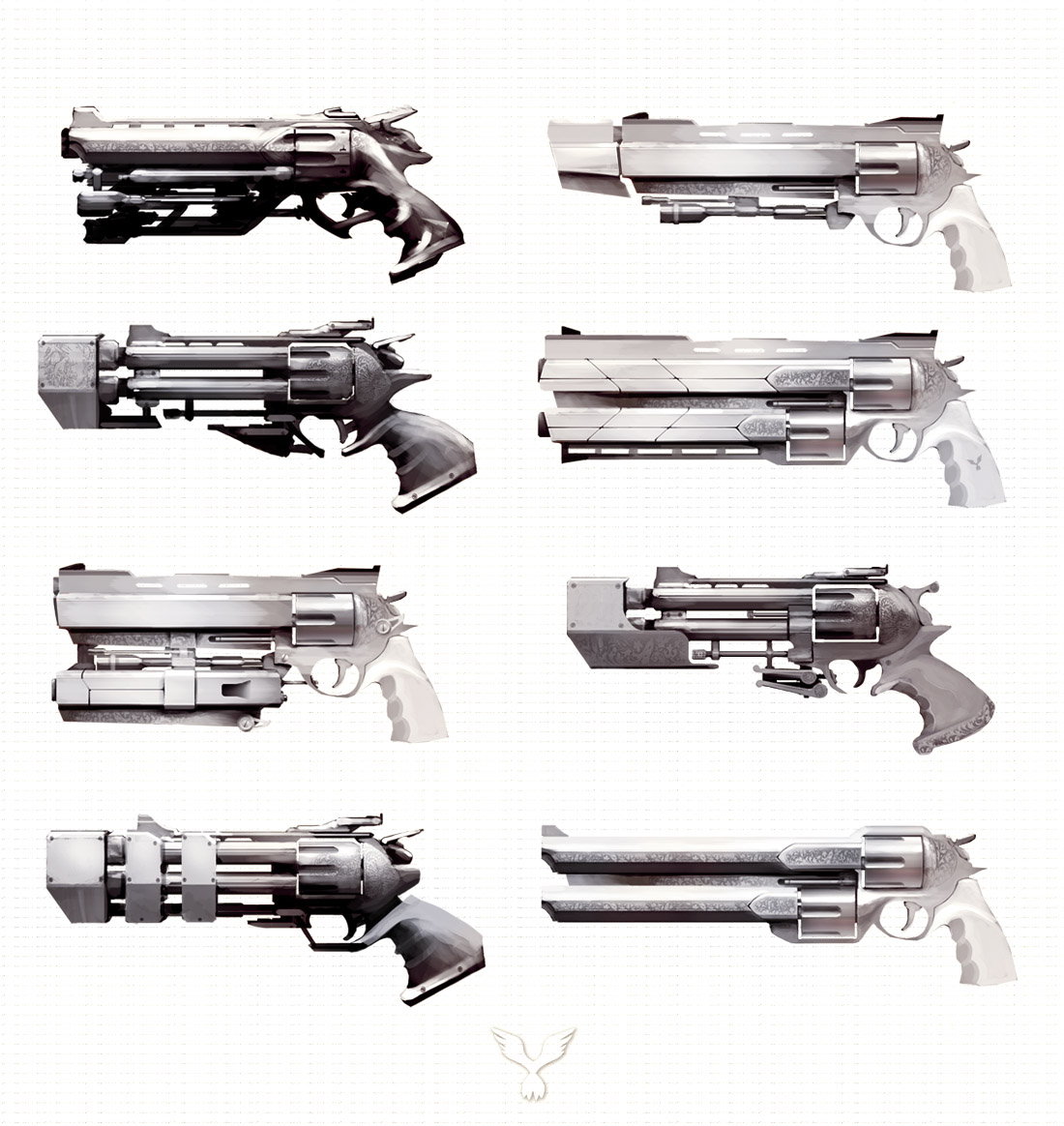 Drawn pistol awesome gun Weapons futuristic medieval cool weapons