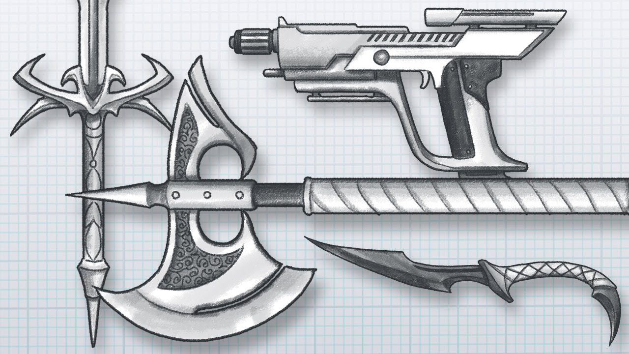 Drawn gun weapon How WEAPONS! How AWESOME and