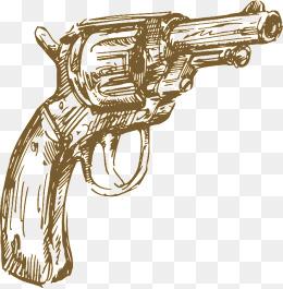 Drawn pistol basic Psd pistol pngtree hand images