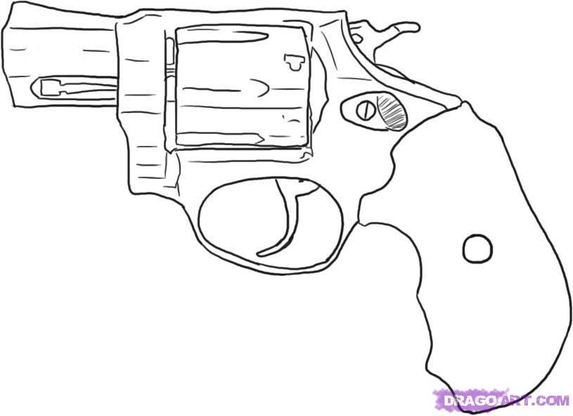 Drawn pistol basic Revolver How draw Step Weapons