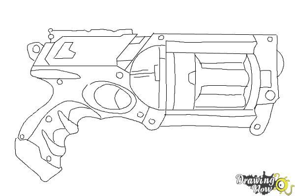 Drawn pistol basic DrawingNow Draw Draw Nerf a