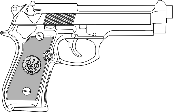 Drawn pistol black and white Online at art image Download
