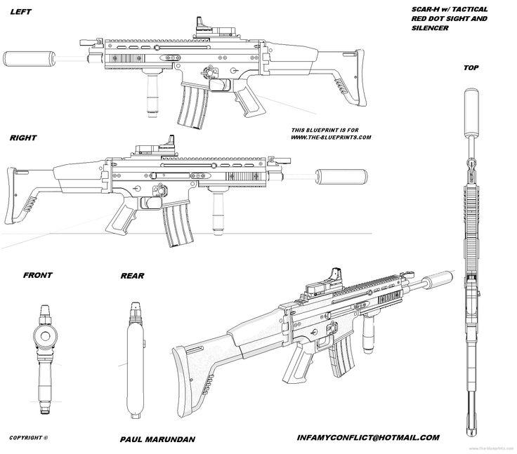 Drawn pistol blueprint About best Pinterest Gun 27