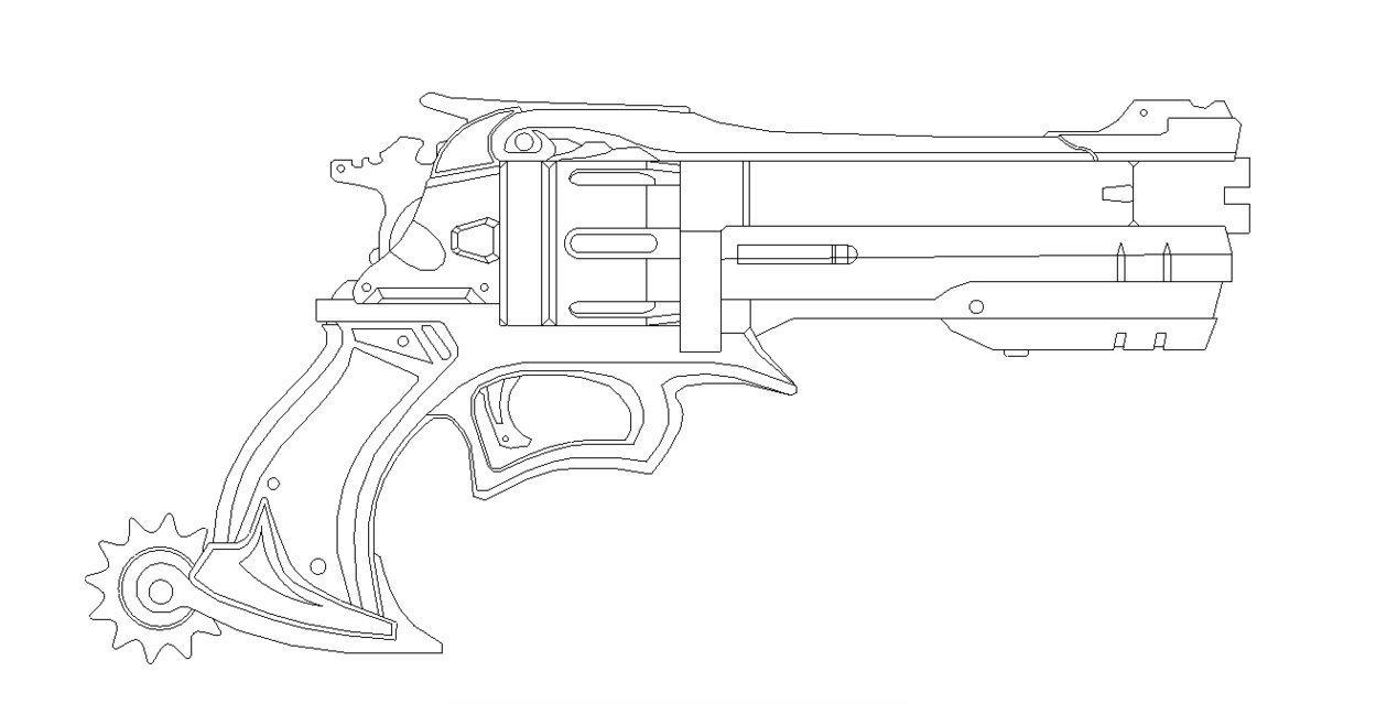 Drawn pistol blueprint Prop Prop netherpirate For BluePrint