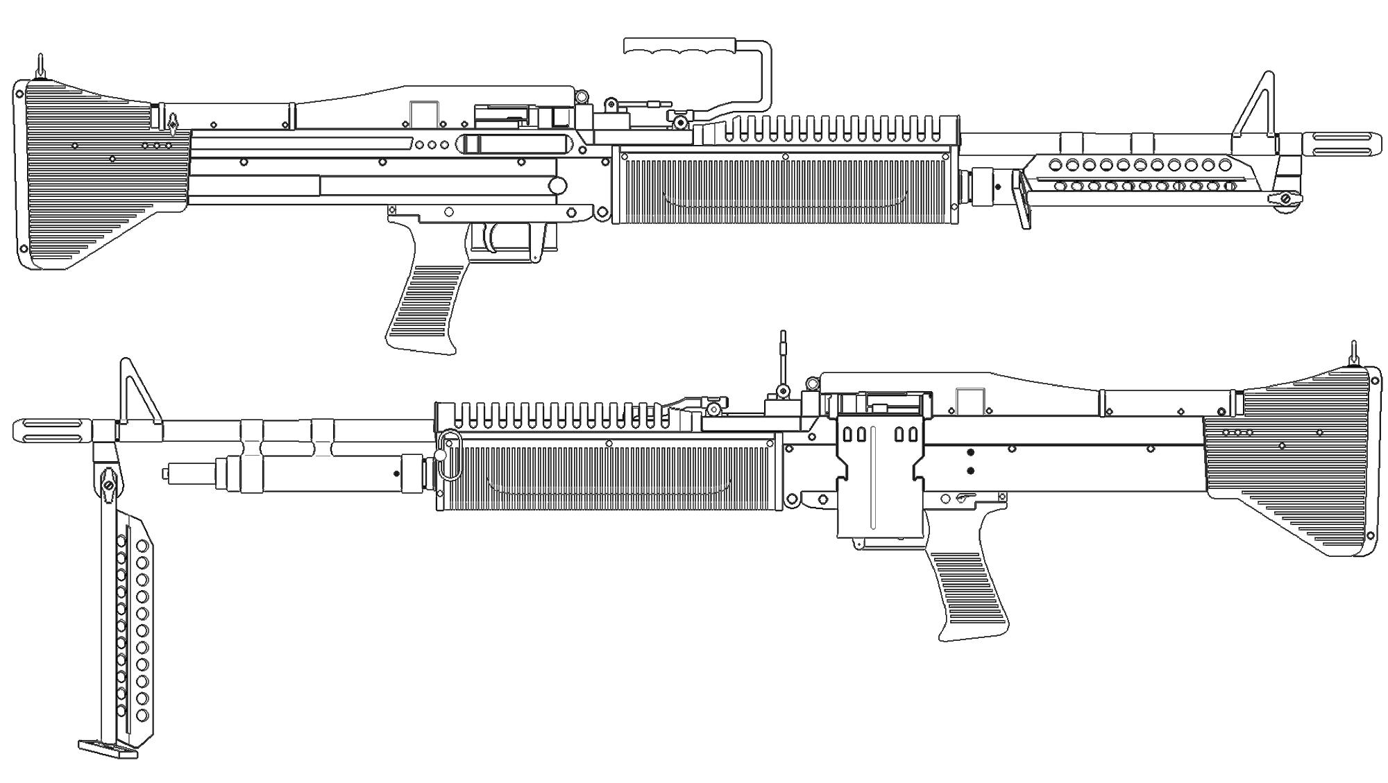 Drawn pistol blueprint Blueprint for modeling blueprint Blueprint