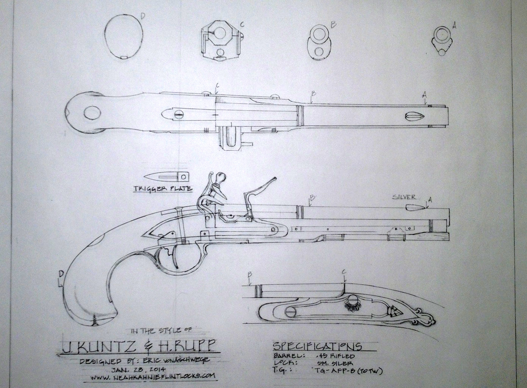 Drawn pistol blueprint Blueprints  firearms plan building