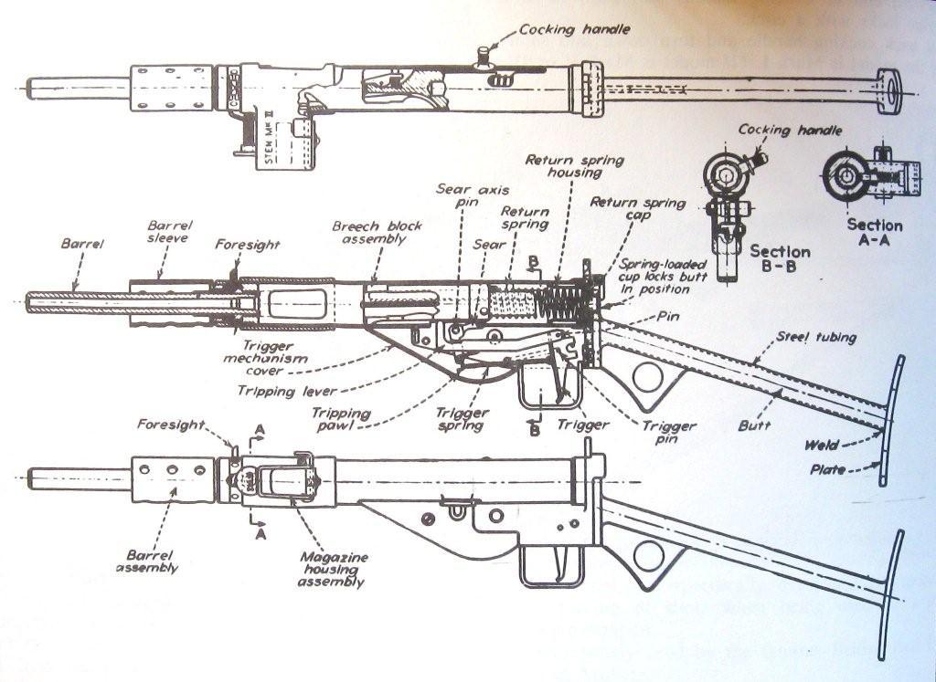 Drawn pistol blueprint Homemade  Google Plans Break
