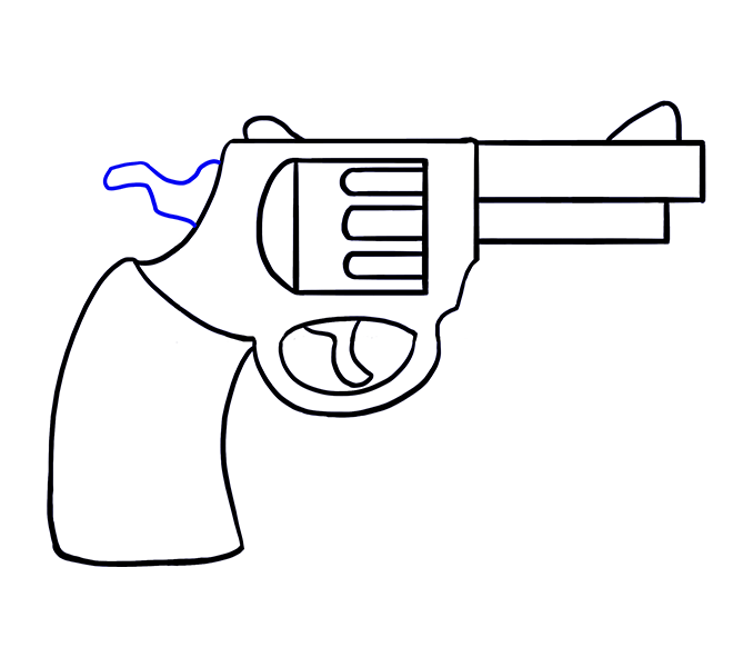 Weapon clipart metal object Cartoon Drawing a How revolver