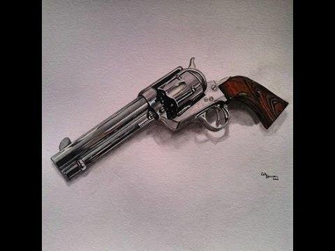 Drawn gun colt 45 A 45 Single Time Single