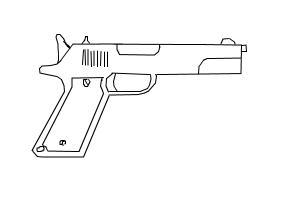 Drawn pistol colt 45 Drawing Colt 45 by mac2