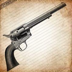 Drawn pistol colt 45 45 Gunslinger's Vintage #poster colt