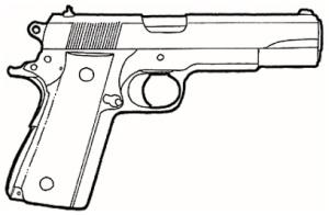 Drawn pistol colt 45 Pistols M1911 A7 45 Colt