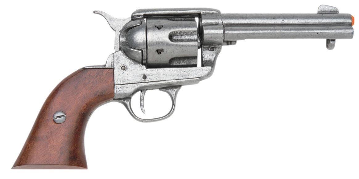 Drawn pistol colt 45 45 Denix M1873 Peacemaker Fast