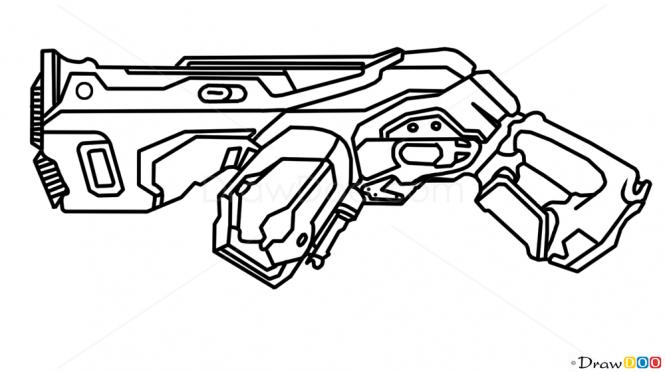 Drawn pistol cool gun How  Plasma Guns and