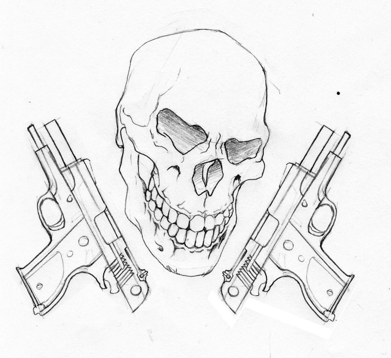 Drawn pistol cool gun DeviantART  and and of