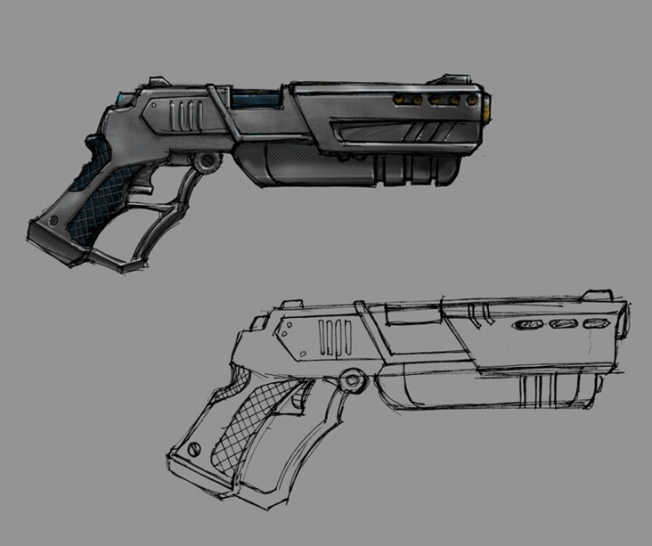 Drawn pistol cool gun Weapons  more weapons and