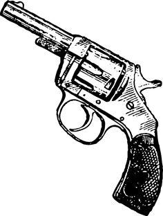 Drawn pistol cowboy gun Revolver OM55 Revolver Gallery Image
