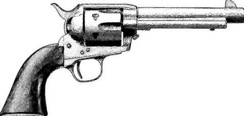 Drawn pistol cowboy gun Gallery Sketch and Tattoo West