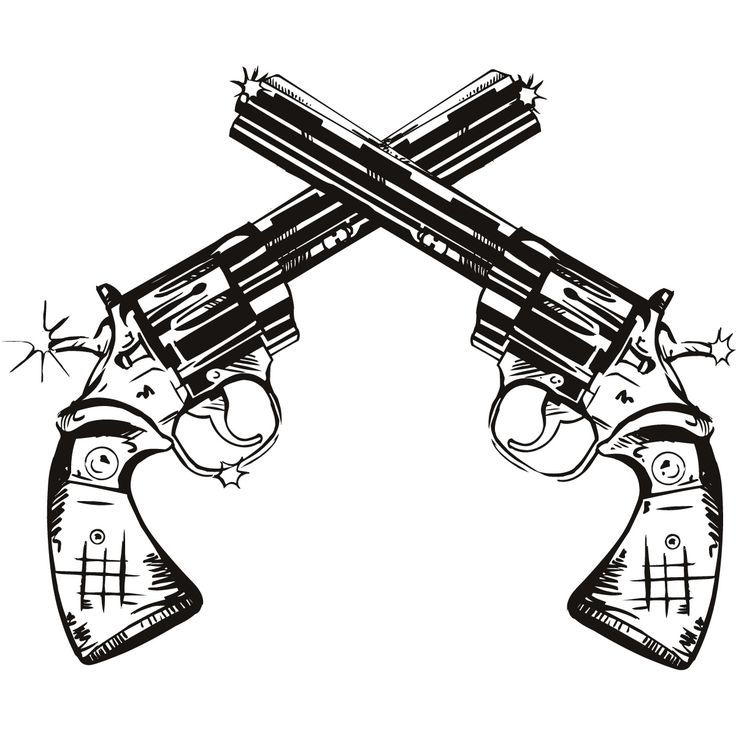 Gun Shot clipart man On Pinterest Stickers Wall Decal