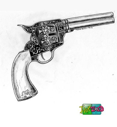 Drawn pistol cowboy gun Drawing Gun Western Western by