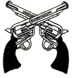 Drawn pistol crossed Free Guns Clipart Crossed Panda