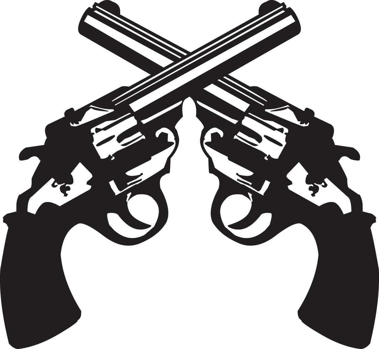 Drawn pistol crossed Guns Clipart Cliparts Clipart Crossing