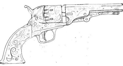 Drawn pistol detailed Drawing Drawing Tattoo Pistol Photos