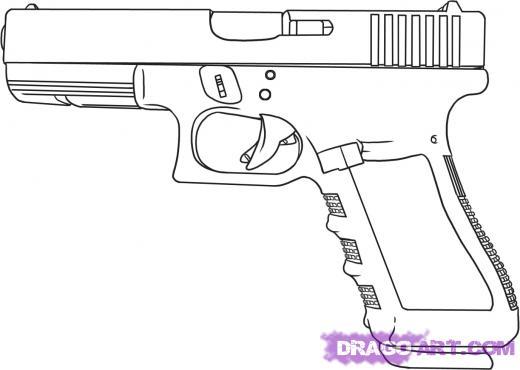 Drawn pistol detailed Learn 30 Dawn Step am