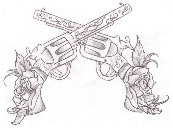 Drawn pistol detailed Great Gun Gun Pinterest tattoos
