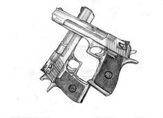 Drawn pistol detailed Of sketch Comments on