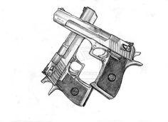 Drawn pistol detailed Drawings Guns deviantART Tattoo gun