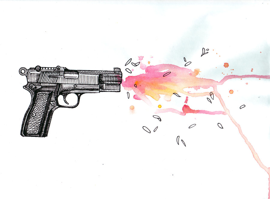 Drawn shotgun draw a On about on this drawing