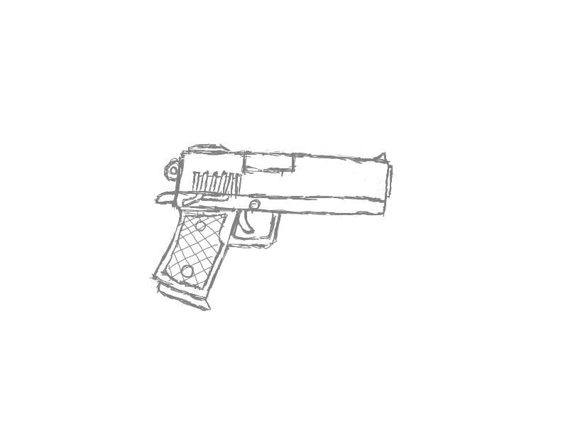 Drawn weapon pistol Drawings first first drawing gun