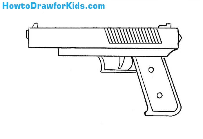 Drawn shotgun draw a Drawing Drawing Gun