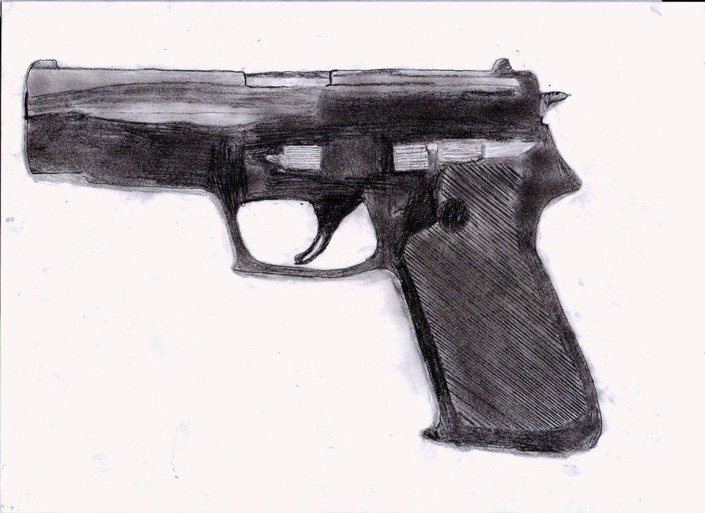 Drawn still life gun Gun drawing by gun DeviantArt