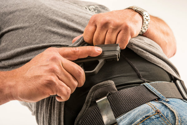 Drawn pistol draw Tip: holster from Your Gun