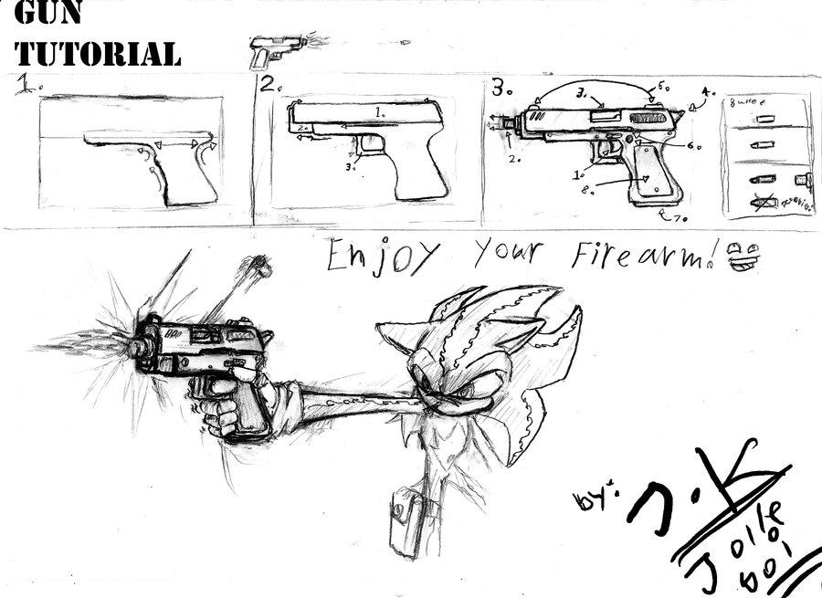 Drawn pistol draw Tutorial by Gun on Jolleboi