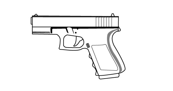 Drawn pistol easy Drawings Image Gallery Gun