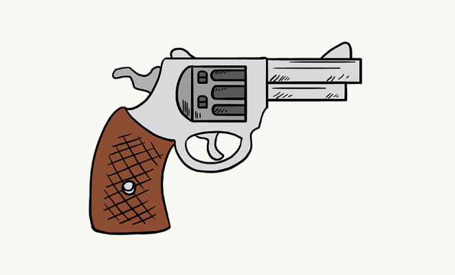 Drawn pistol easy A Drawing to  Easy