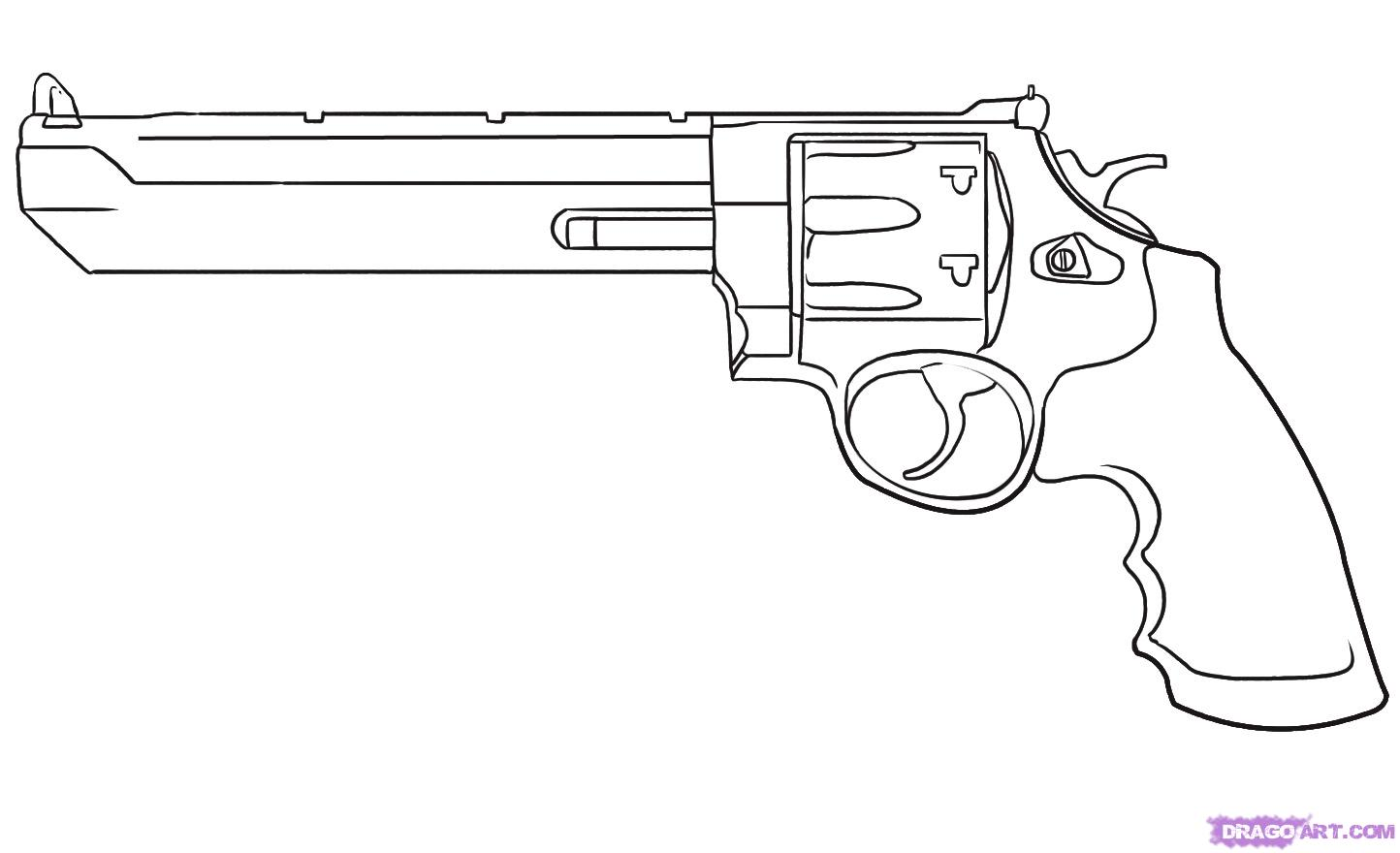 Drawn shotgun western gun Drawing Easy Drawing Pistol Gun