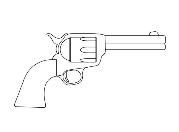 Drawn pistol easy Of  Gun Gun Gun