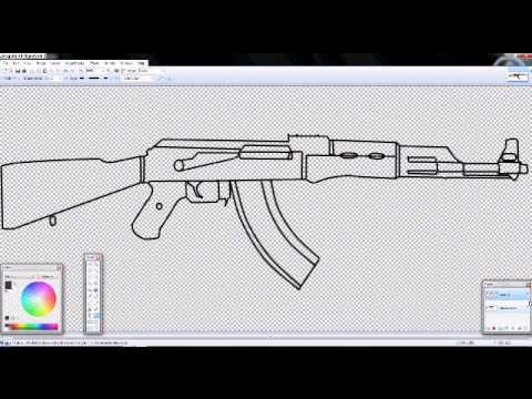 Drawn weapon made PAINT with How YouTube a