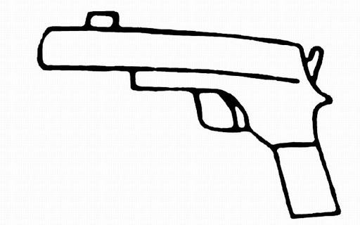 Drawn pistol easy Drawing Drawing Easy Pistol Easy